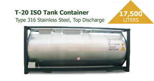 17500 Liters T-20 ISO Tank Container