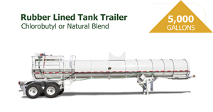 5000 Gal Rubber-lined Tank Trailer