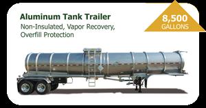 8500 Gal Aluminum Tank Trailer
