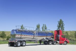7000 Gal General Purpose Tank Trailer Rear with Tractor